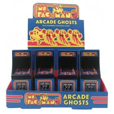MS PAC-MAN ARCADE GHOSTS CANDY TIN 12PC DISP