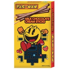PAC-MAN CHOCOLATE CREAM STICKS 12PC DIS