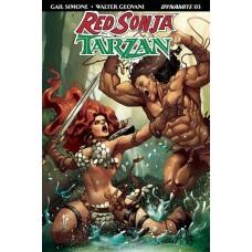 RED SONJA TARZAN #3 CVR C DAVILA