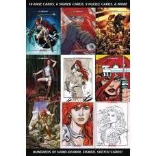 RED SONJA 45TH ANNIVERSARY FOIL TRADING CARD BOX