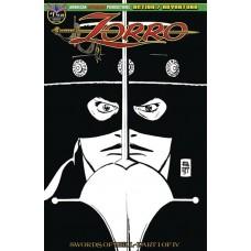 ZORRO SWORDS OF HELL #1 TOTH VISIONS OF ZORRO LTD ED CVR