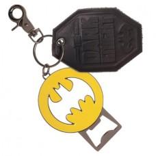DC BATMAN METAL BOTTLE OPENER KEYCHAIN