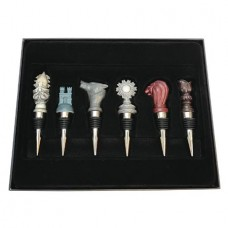 GAME OF THRONES HOUSE SIGIL WINE STOPPER 6PC SET