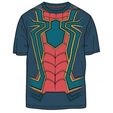 AVENGERS IW I AM IRON SPIDER PX NAVY T/S MED