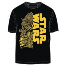 SW SOLO CHEWIE STAR WARS SPLIT PX BLACK T/S XL