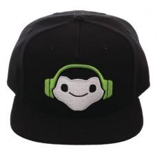 OVERWATCH LUCIO EMBLEM BLACK SNAPBACK CAP