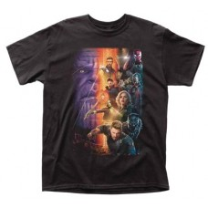 AVENGERS IW MOVIE POSTER BLACK T/S XL
