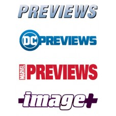 PREVIEWS  DC MARVEL and IMAGE CATALOGS IN YOUR REGULAR MONTHLY SHIPMENT