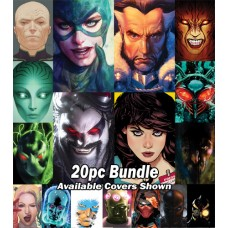 DC YEAR OF THE VILLAIN CARD STOCK VARIANT 20PC BUNDLE @A