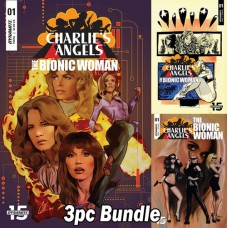CHARLIES ANGELS VS BIONIC WOMAN #1 A B C 3PC BUNDLE @A