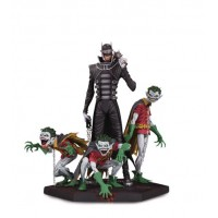 DARK NIGHTS METAL BATMAN WHO LAUGHS & ROBINS DLX STATUE @U