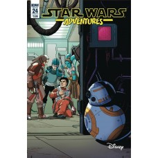 STAR WARS ADVENTURES #24 CVR A LEVENS @D