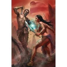 DEJAH THORIS VS JOHN CARTER OF MARS #1 CVR L PARRILLO LTD VIRGIN