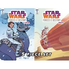 STAR WARS ADV FORCES OF DESTINY COVER A ONE SHOTS 5PC SET