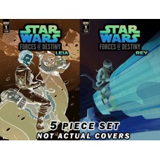 STAR WARS ADV FORCES OF DESTINY COVER B ONE SHOTS 5PC SET