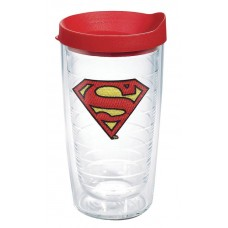 DC COMICS SUPERMAN 16OZ TUMBLER W/ RED LID