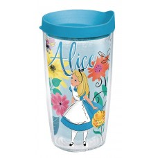 DISNEY ALICE IN WONDERLAND 16OZ TUMBLER W/ LIGHT BLUE LID