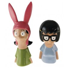 BOBS BURGERS TINA & LOUISE SALT AND PEPPER SHAKERS