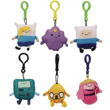 ADVENTURE TIME PLUSH HANGERS 24PC BMB DS
