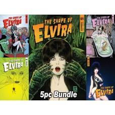 ELVIRA SHAPE OF ELVIRA #1 CVR A B C D E 5PC BUNDLE