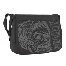 SHOCK MONSTER MESSENGER BAG BLACK