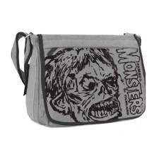 SHOCK MONSTER MESSENGER BAG GREY