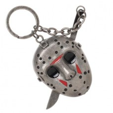 FRIDAY THE 13TH JASON VOORHEES 3D MASK W/MACHETE KEYCHAIN
