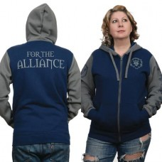 WOW BATTLE FOR AZEROTH ALLIANCE PRIDE HOODIE MED