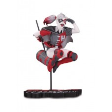 HARLEY QUINN RED WHITE & BLACK STATUE BY GUILLEM MARCH @F