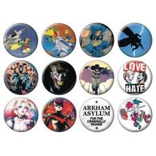 DC HEROES BATMAN 144PC BUTTON ASST DIS @U