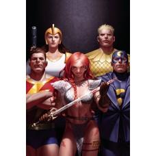 RED SONJA THE SUPERPOWERS #1 YOON LTD VIRGIN CVR