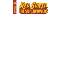 RED SONJA THE SUPERPOWERS #1 BLANK AUTHENTIX ED