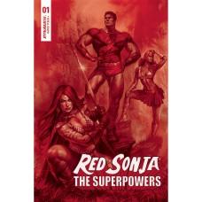 RED SONJA THE SUPERPOWERS #1 PARRILLO CRIMSON RED ART CVR