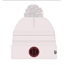 MARVEL BLACK WIDOW ARCTIC STEALTH PX WHITE POM KNIT CAP (C: