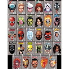 MARVEL LEGACY 29 PC 1:10 HEADSHOT VARIANT COVER AUG SET PART 1