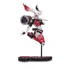 HARLEY QUINN RED WHITE & BLACK STATUE BY BY BABS TARR