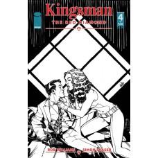 KINGSMAN RED DIAMOND #4 (OF 6) CVR B B&W HAMNER (MR)