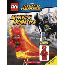 LEGO DC SUPER HEROES ACTIVITY BOOK #3 W FLASH MINIFIGURE