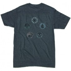 MTG FIVE PIE CHARCOAL HEATHER T/S MED
