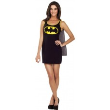 DC BATMAN CAPE TANK DRESS LG