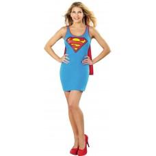DC SUPERMAN CAPE TANK DRESS SM