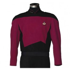 STAR TREK TNG COMMAND BURGUNDY TUNIC REPLICA MED (Net)