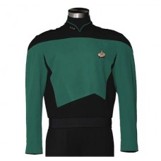 STAR TREK TNG SCIENCES TEAL TUNIC REPLICA MED (Net)