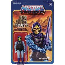 MOTU 3.75IN REACTION FIGURE WAVE 3 BATTLE ARMOR SKELETOR (Ne