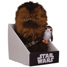 STAR WARS E8 CHEWBACCA WITH PORG 12IN PLUSH