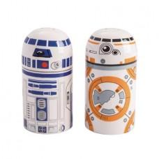 STAR WARS R2-D2 & BB-8 2PC SALT AND PEPPER SHAKER SET