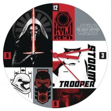 STAR WARS E7 COLLAGE 13.5 IN CORDLESS WOOD WALL CLOCK