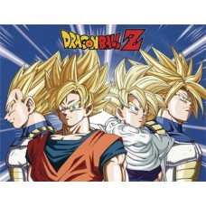 DBZ CELL SAGA SUPER SAIYANS SUBLIMATION THROW BLANKET