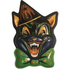GHOULSVILLE MAGIC GLITTER CAT VAC-TASTIC PLASTIC MASK