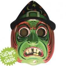 GHOULSVILLE GREEN WITCH VAC-TASTIC PLASTIC MASK